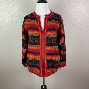 Fuzzy Swiss sweater